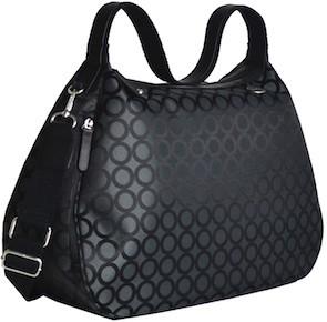 SEQUOIA černá lesklá - elegantní kabelka i taška na kočárek